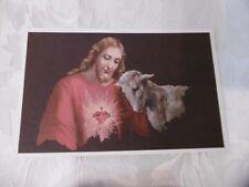 Cartolina Buona Pasqua Barberis Il Cuore di Gesù intonsa (ZU311) ^