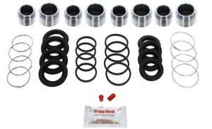 for TOYOTA LAND CRUISER FRONT L & R Brake Caliper Seal Kit +Pistons (BRKP575)