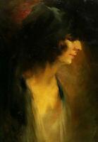 Signiert datiert 1925 - Frauenportrait