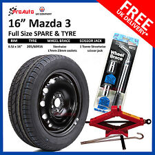 Mazda 3 2008-2017 FULL SIZE STEEL SPARE WHEEL &TYRE + FREE TOOL KIT