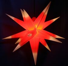 3D Adventsstern 55cm rot/weiß Außenstern außen Stern Weihnachtsstern wetterfest