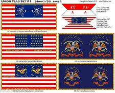 Civil War Flag Sheets - 21 Flags - (54mm Size) - New