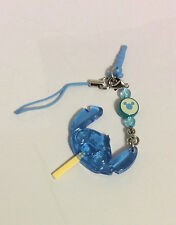 TOKYO DISNEYLAND SUMMER FESTIVAL, STITCH BLUE FACE CLEAR LOLLIPOP PHONE CHARM