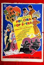 POP CIRA POP SPIRA SOJA JOVANOVIC COMEDY 1957 RARE YU MOVIE POSTER + INSERT LOT
