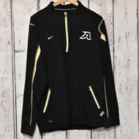 Nike Fit Storm Jacket Army Branded Men's Sz L Half Zip EUC Black Gold Pockets