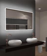 TALOS SUN 120x70 cm LED Badezimmerspiegel mit Beleuchtung Badspiegel Digital-Uhr