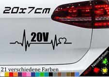 Herzschlag 20V Sticker Turbo TDI Diesel Aufkleber Tuning Zylinder JDM GSI 20x7cm