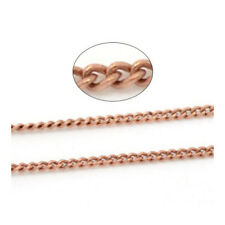 10m x Red Copper Plated Copper 1 x 1.5mm Closed Link-Soldered Curb Chain CH2335