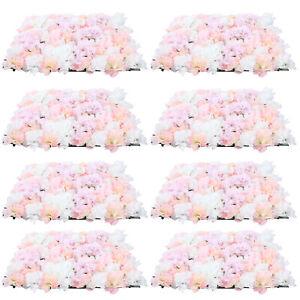 8stk Hochzeit Rosenwand Blumenwand Straße Hintergrund Dekor 40*60cm Seidenblume