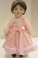 """Vint 1991 artist made bisque 16-3/4"""" girl Primrose in pink organdy -F. Reedy Vgc"""