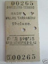 "edmondson train ticket barcelona madrid villava tarragona spain <ne translation=""$prodspec"" entity=""1st"">$prodspec</ne> class <ne translation=""$num"" entity=""1953"">$num</ne>"