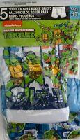Nickelodeon Teenage Mutant Ninja Toddler Boys Boxer Briefs (Size:4T)