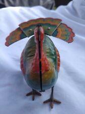 Rare Vintage Old Wind Up Tin Toy Turkey. Marked:
