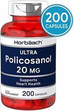 POLICOSANOL 20mg 200 Capsule Support Cholesterol Heart Health Potent Antioxidant