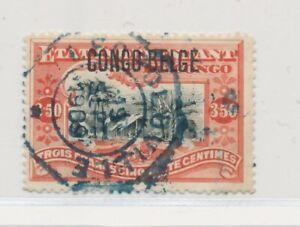 D141592 Belgian Congo VFU Congo Village 1908 Issue 3.5 fr.