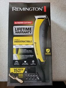 Remington Clippers Virtually Indestructible Haircut & Beard Trimmer 15 Piece Kit