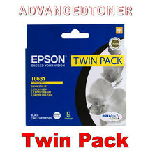 Genuine Epson T0631 Black Ink Twin Pack  for Stylus C67,87,87+,CX3700,4100,4700