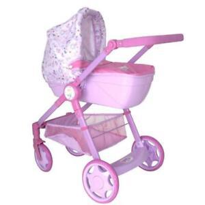 Baby Born Kinder Puppenwagen Rose 2in1 Puppen Sportwagen Kinderwagen Set Neu