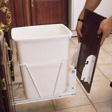 8 in Metal Door Mounting Kit for Wire RV Waste Container Series White