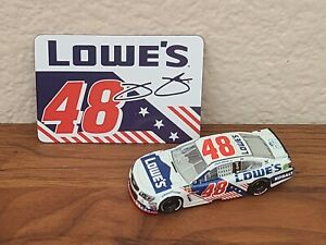 2017 #48 Jimmie Johnson Lowe's Salute Patriotic 1/64 NASCAR Diecast Loose Wave 9