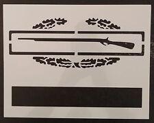 "US Combat Infantry Badge CIB 8.5"" x 11"" Custom Stencil FAST FREE SHIPPING"