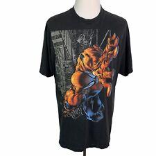 Universal Studios Marvel Vintage Short Sleeve Spiderman Graphic T Shirt Mens L