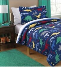 New Twin Size Comforter Set Boy's Dinosaur Bedding Kid's Sheets Sham Bedding