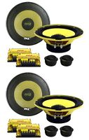"""4) New PYLE PLG6C 6.5"""" 800W 2 Way Car Audio Component Speakers Set Power System"""