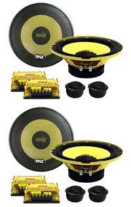 "PYLE PLG6C 6.5"" 800W 2 Way Car Audio Component Speakers Set Power System"