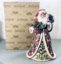 "2017 Jim Shore ""Pining For Christmas"" Santa Figurine 12"" Used"
