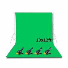 Emart Photo Studio 10 x 12ft Green Backdrop Screen, Seamless Chromakey Backdr...
