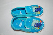 Toddler Girls FINDING DORY SHOES Turquoise CANVAS Casual BOAT DECK Pull On SZ 10