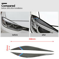 Mix-Stripe Carbon Fiber Front Headlight Eyebrows Eyelid for BMW 3 Series F30 335