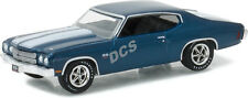 GREENLIGHT HOBBY EXCLUSIVE 1970 70 CHEVROLET CHEVELLE SS 454 1/64 BLUE 51057
