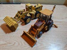 Lot of 2 CASE 580K Backhoe and CAT 988B Wheel Loader by Ertl