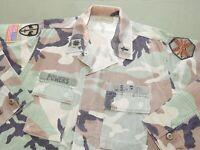 US Army GWOT Era CHAPLAIN NAMED, ID'D, & MACV COMBAT BADGED WOODLAND BDU SHIRT