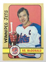1972-73 Ab Mcdonald Winnipeg Jets 321 OPC O-Pee-Chee Hockey Card WHA S512