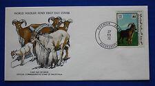 Mauritania (386) 1978 Endangered Animals - Barbary Sheep WWF FDC