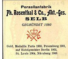 Ph. Rosenthal & Co. A.G. Selb PORZELLANFABRIK Trademark 1908