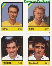 116 BROGI - NITTI - PAIRETTO - PEZZELLA CARD CARTA CALCIO QUIZ VALLARDI 1991