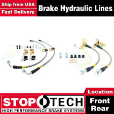 Stoptech Front + Rear Pairs Stainless Steel Brake Lines For 2011 Ford Mustang