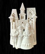 Partylite Victorian Christmas carolers cathedral church bell tower candle holder