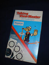 popeye 3-D Talking View-Master Vintage 3 cartridges mib