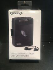 NEW JENSEN Stereo Cassette Player with AM/FM Radio Gray SCR-75 B4