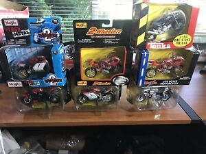 lot Of 6 Maisto 1/18 Ducati Motorcycles Diecast In Boxes