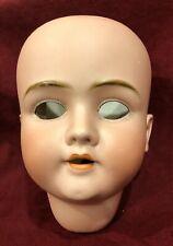 Large Antique German Bisque Doll Head Walkure Kley & Hahn
