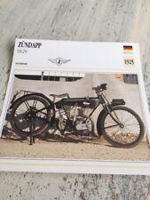 Zündapp EM 250 1925 EM250 250EM Card motorrad Collection Atlas Germany