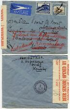 SOUTH AFRICA AIRMAIL WW2 CENSORED to BELGIUM 1940 REDIRECTED HOLLAND GRAVENHAGE