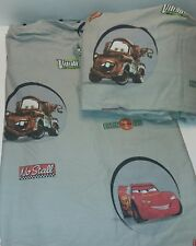 Disney Cars 2 Pc Piston Cup Bed Sheet Set Flat Fitted Lightning McQueen Towmater