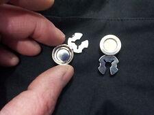 1 coppia copribottoni bagno argento lucido  copri bottoni button covers